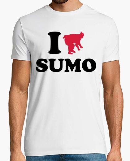 T-shirt io amo gli sport sumo wrestling