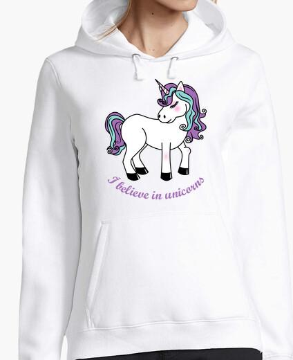 Felpa io credo in unicorni