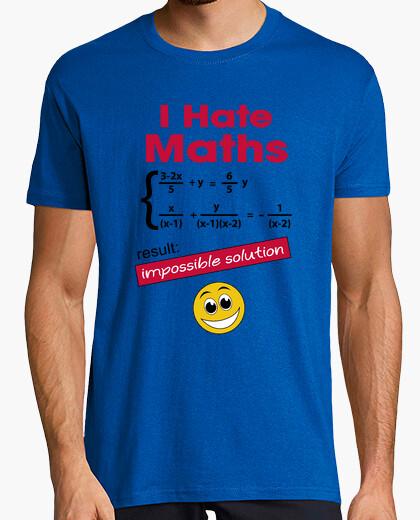 T-shirt io odio la matematica