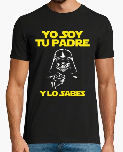 T-shirt io sono tuo padre (e si sa) uomo (sfondo scuro)