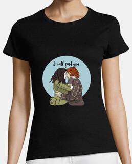io will trovare you - outlander t-shirt