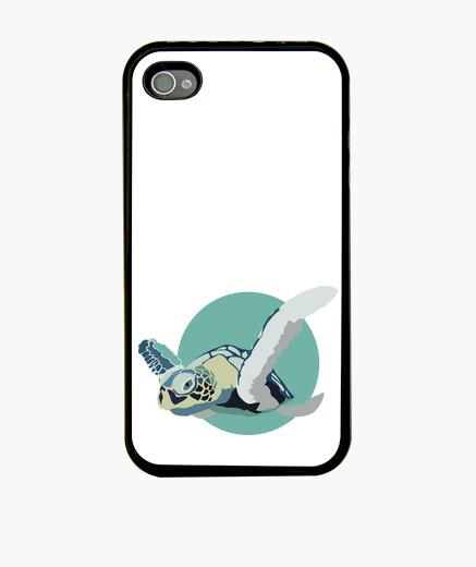 Coque iPhone iphone 4 et 4s - tortue bleue