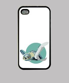 iphone 4 et 4s - tortue bleue