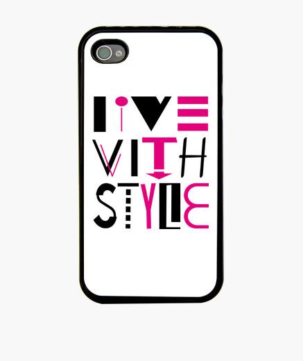 Funda iPhone iphone 4, vivir con estilo