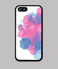 iphone 5 caso marca de agua de colores