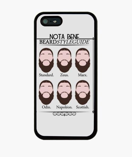 Funda iPhone iphone 5 notabene guía de estilo de la barba