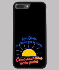 iphone 7/8 plus la couverture, noir design que jolie est l' après - midi cadix