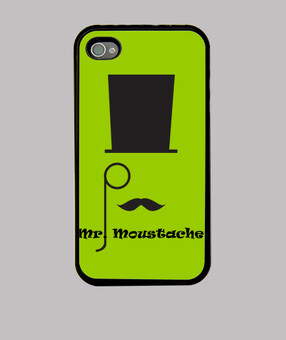 iphone cas mr. moustache
