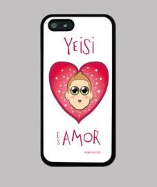 iphone de cas 5 yeisi est amour