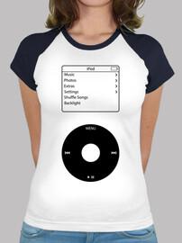 iPod negro, chica