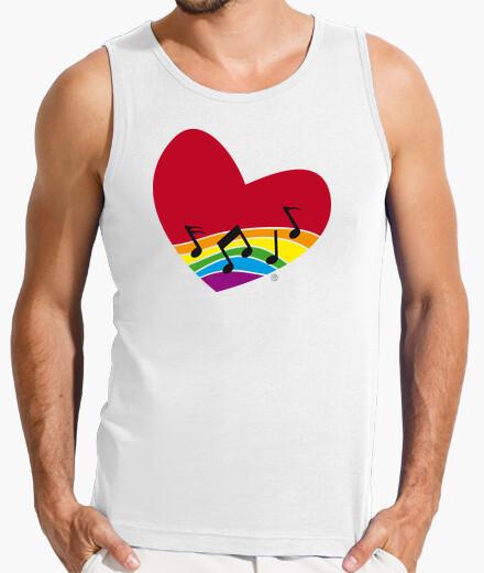 Tee-shirt iris arc-en-coeur