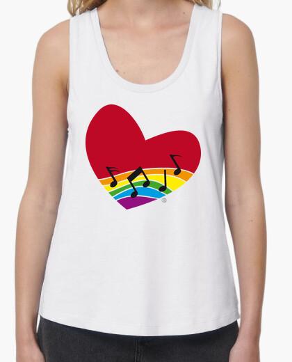 T-shirt iris cuore arcobaleno