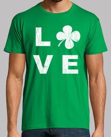 irische liebe quadratische weiße