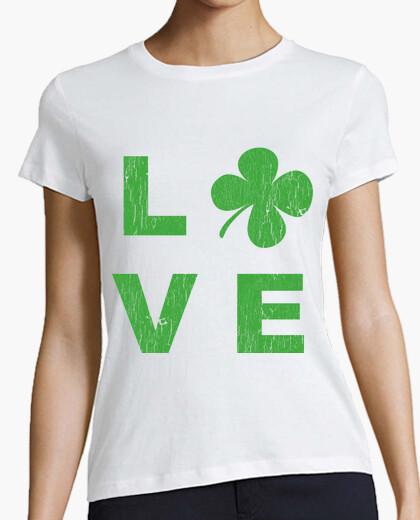 Camiseta Irish love square green