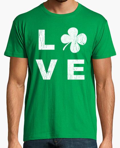 Tee-shirt Irish love square white