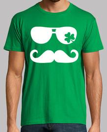 irlandés gafas de sol bigote trébol