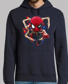 Iron Spider Chibi - jersey con capucha