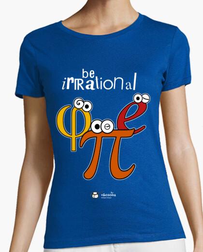 T-shirt irrazionale essere π φ e (sfondi scuri)