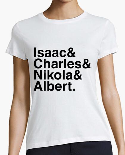 Camiseta Isaac & Charles & Nikola & Albert.