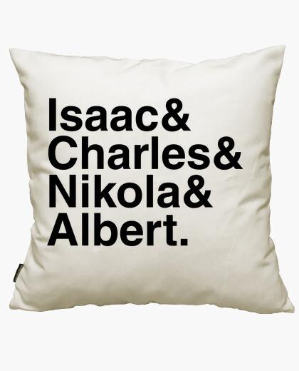 Funda cojín Isaac & Charles & Nikola & Albert.