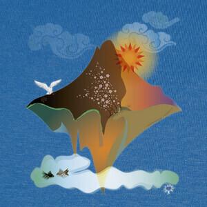 Camisetas isla flotante