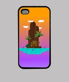 Isla naufrago Funda iPhone 4