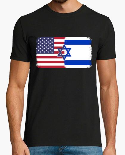 Camiseta israel usa flag