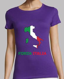 italie forza italia t-shirt femme