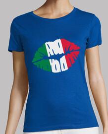 Italy kiss flag