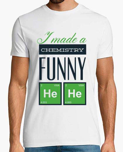 Tee-shirt j39ai fait une chimie drôle il