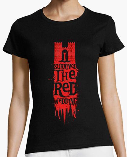 Tee-shirt J'ai survécu au mariage rouge