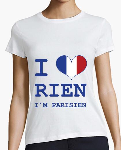 Tee-shirt J'aime rien, je suis Parisien