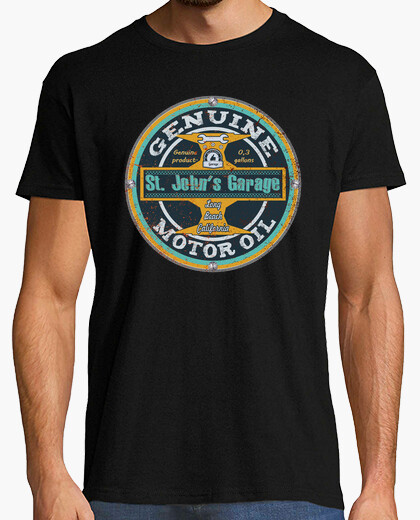J st. engine oil t-shirt