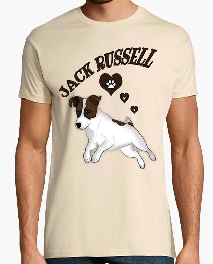 Camiseta jack russell corazones