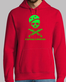Jackass color sudadera green (red)