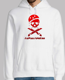Jackass color sudadera red (white)