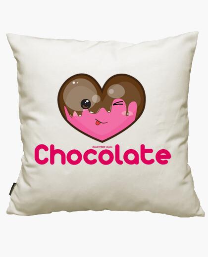 Housse de coussin j'adore le chocolat