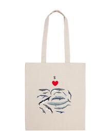 j'adore les sac de toile de baleines