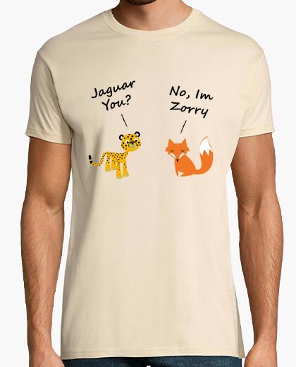 Camiseta Jaguar y zorro