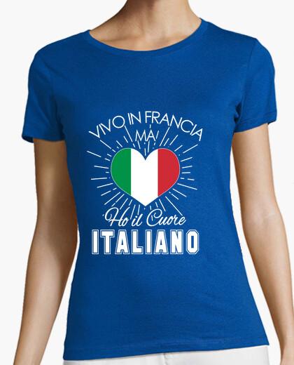 Tee-shirt j'ai le cœur italien