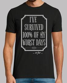 j'ai survécu à 100 de mes pires jours
