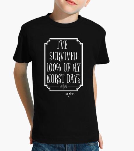 Vêtements enfant j'ai survécu à 100 de mes pires jours
