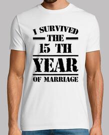 j'ai survécu à la 15 e année du mariage
