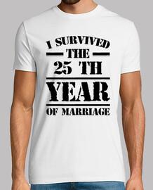 j'ai survécu à la 25 e année du mariage