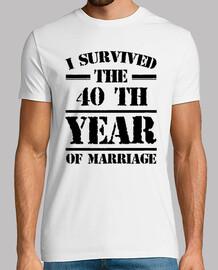 j'ai survécu à la 40 e année du mariage