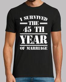 j'ai survécu à la 45 e année du mariage
