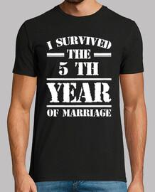 j'ai survécu à la 5 e année du mariage