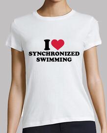 j'aime la natation synchronisée