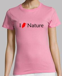 j'aime la nature (femme rouge)