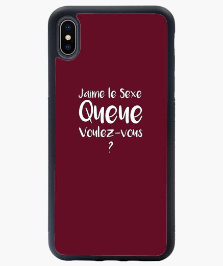 Coque iPhone XS Max J'AIME LE SEXE, QUEUE VOULEZ-VOUS ?